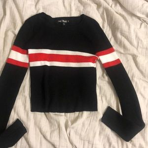 One stripe red sweater